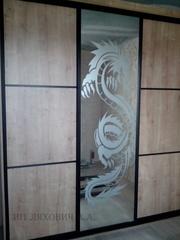 Шкафы с пескоструйным рисунком недорого