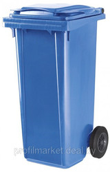 Контейнер для мусора 120 литров синий