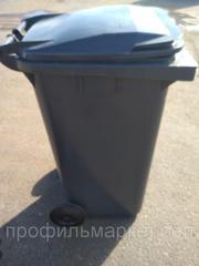 Пластиковый мусорный контейнер 240 л. серый