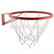 Кольцо баскетбольное с сеткой.