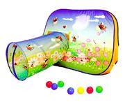 Детская игровая палатка +100шариков Цветочная поляна