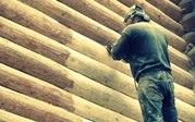 Шлифовка,  конопатка,  покраска деревянных срубов и домов!