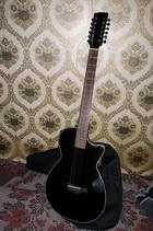 Гитара полуакустика CRAFTER CT-120-12/EQBK