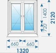 Балконная группа 1320х2120 Пвх профиль Brugmann-10
