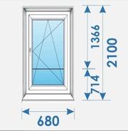 Двери Пвх 680х2100 дешево профиль Rehau-1