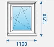 Окна Пвх 1100х1220 дешево профиль Rehau-4