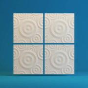 Стеновая 3Д ( 3D) панель Круги (500*500)