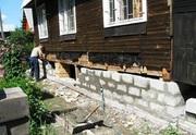 Поднять дом,  усиление и ремонт деревянного дома,  замена венцов