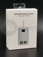 Сетевой блок питания Desktop Charger на 4 USB порта
