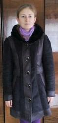 Дубленка пальто зима искусственный мех рр 48-50 ТОРГ 80298546225