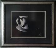Картина «Чашечка», ручная работа,  вышивка.