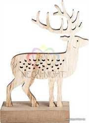 Деревянная фигурка с подсветкой Олень 14, 5-5-19 см