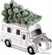 Керамическая фигурка Автобус с елкой 19-9-16 см