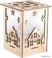 Деревянная фигурка с подсветкой Волшебный фонарик 13, 8-11-11