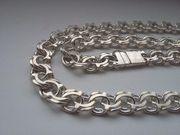Серебряная цепочка Бисмарк 100 грамм 925 пробы 65 см новая
