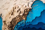 Деревянная карта Крыма