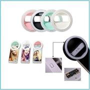 Кольцо для селфи Selfie Ring Light лампа-прищепка на батареиках