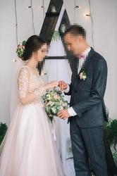 нежнейшее свадебное платье 42 р-ра