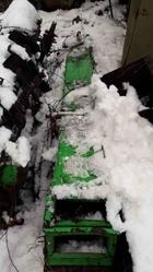 Транспортер цепной скребковый зеленый