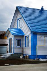 Отделка фасада здания,  дома или коттеджа.