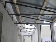 Установка крыш на балкон и лоджию